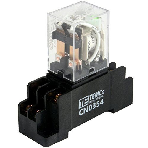Temco 1x Industrial Ice Cube Plug-in Relay General Purpose 12 VDC 10A Contact 8 Pin (LY2 Format) w/Socket