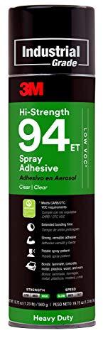 3M Hi-Strength 94 ET Spray Adhesive Low VOC <20%, Clear, Net Wt 19.8 oz