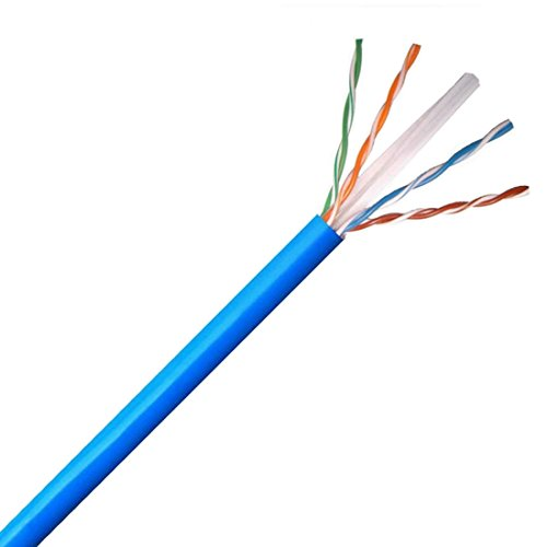 CAT6 Cable 150' FT Blue Bulk 550 MHz Solid Copper Unshielded 4 Twisted Pair UTP Network FastCat Cable UL Exceeds All Standards CMR 23 AWG 5092 ETL Verified Ethernet CAT6 Data Transfer Line