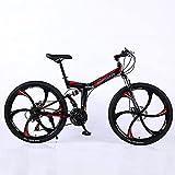 ASPZQ Bicicleta De Montaña Plegable, Freno De Doble Disco Cómodo Móvil Portátil Compacto Liviano Liviano Bicicletas para Adultos Estudiante De Adultos Bicicleta Ligera,A,24 Inch 27 Speed