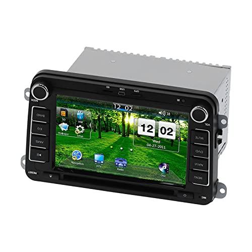 Navegación GPS para automóvil, 7 pulgadas 2Din Sistema de navegación universal para automóvil Pantalla táctil para automóvil Navegación Video Música Máquina Reproductor MP5 Adecuado para Altea/Altea