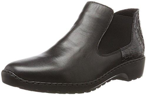 Rieker Damen L6090 Chelsea Boots, Schwarz (Schwarz/Nero), 41 EU