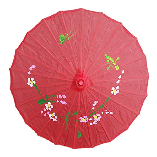 Faderr - Ombrello in Carta oleata Resistente e colorato, Decorazione Artistica per Matrimoni, Rosso, Taglia Libera