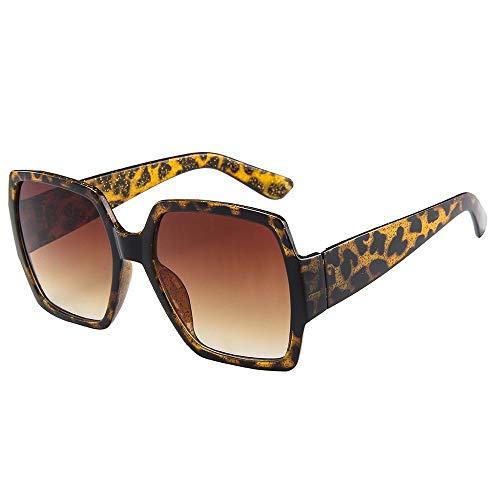 ZEZKT gafas de sol cuadradas para mujer y hombre moda unisex gafas de sol vintage de marco grande casual sunglasses para viajes al aire libre D