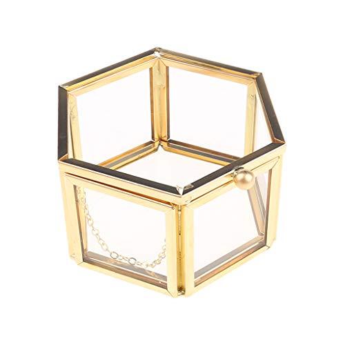Wr Boîte À Bijoux Géométrique en Verre Clair, Organisateur De Bijoux, Stockage De Bijoux
