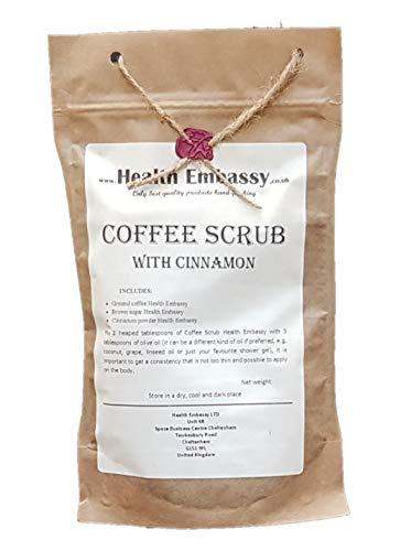 Health Embassy Gommage de Café avec Cannelle/Coffee Scrub with Cinnamon (peeling, body scrub), 150g