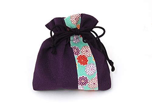 母の日 プレゼント ちりめん巾着 ほのか 紫色