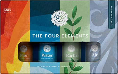Woolzies The Four Elements Essential Oil Collection Set of 4   Includes Fire, Water, Earth, and Air Blends  10ML