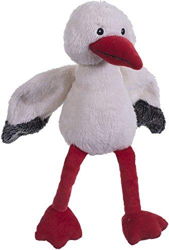 Bieco Plüsch Storch Adebar, ca 32cm groß | niedliches Storch Kuscheltier Baby | Baby Spielzeug | Kuscheltier Baby Greifling Baby Einschlafhilfe | Kuscheltiere für Babys | Stofftier Baby Kuscheltier