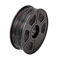 PETG3Dプリンターフィラメント1.75mmブラックPETGフィラメント3D印刷材料の1kgスプール、寸法精度+/- 0.02mmブラックPETG
