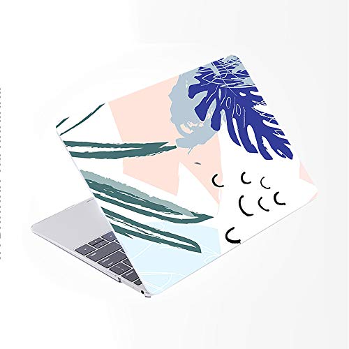 SDH for MacBook Pro 15 inch Case 2019 2018 2017 2016 Release A1990 A1707, Plastic Pattern Hard Shell Cover & Gradient Keyboard Skin Compatible with for Mac Pro 15 Touch Bar & ID, Abstract Plants 5