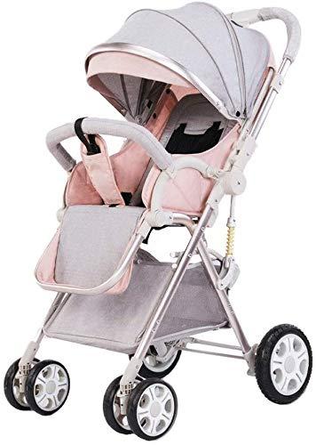 BESTPRVA Cochecito de bebé portátil carro de bebé cochecito ligero portátil Cochecito Cochecito plegable de alta paisaje a sentarse y acostarse a prueba de golpes del recorrido del bebé del cochecito