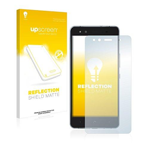 upscreen Entspiegelungs-Schutzfolie kompatibel mit BQ Aquaris X5 Cyanogen – Anti-Reflex Bildschirmschutz-Folie Matt