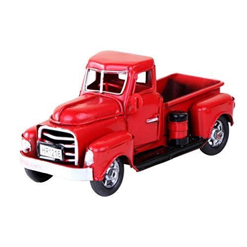 Camion in Metallo Rosso, Decorazione per Feste di Natale, Decorazione per Desktop, Regalo per...