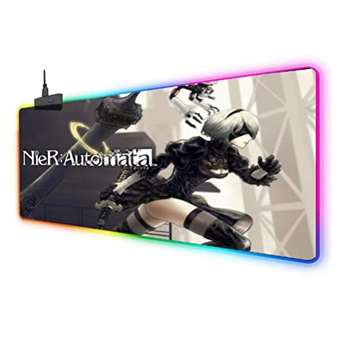 Mouse Pads Nier:Automata Extended RGB Gaming Mouse Pad Extra Large...