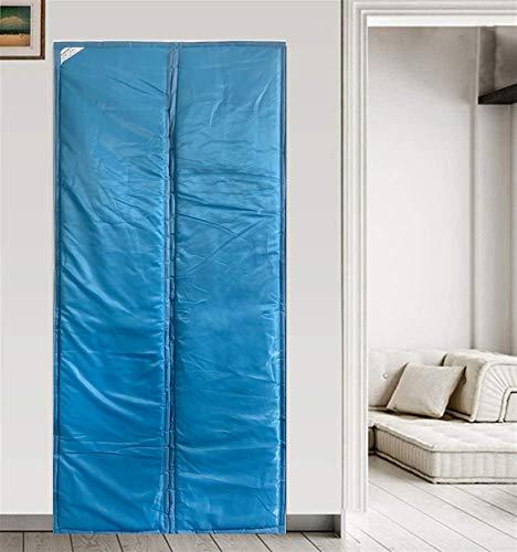 Liveinu Cortina Térmica Magnética Con Aislante Térmico Para Puerta Insonorizante Impermeable Aislamiento Cortina Mosquitera Magnética Para Puertas con Térmica y Aislante 120x210cm Azul