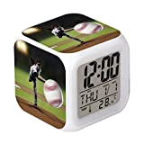 Cointone Led Alarm Clock Baseball Sport Design Creative Desk Table Clock Glowing Electronic colorful Digital Alarm Clock for Unisex Adults Kids Toy Birthday Present Gift