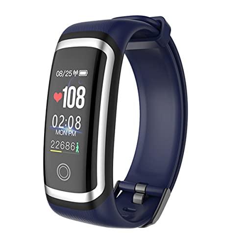 EXEDSCEND Smart Band, Fitness Actividades Tracker con Pantalla a Color de 0.96', 24/7 Monitor de Ritmo cardíaco Continuo 24/7 Seguimiento de sueño Reloj Inteligente con batería Larga Vida,Azul