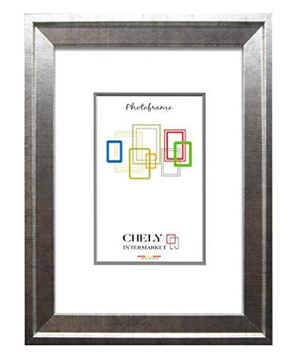 Chely Intermarket, Marco de Fotos 15x20cm MOD-224 (Plateado) | Estilo Barroco | Marco de Madera para decoración de casa | Fotografías de Boda | Listado de Precios (224-15x20-0,40)