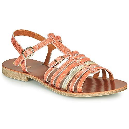 GBB Bangkok Sandali Ragazza Corallo-Oro - 38 - Sandali Shoes