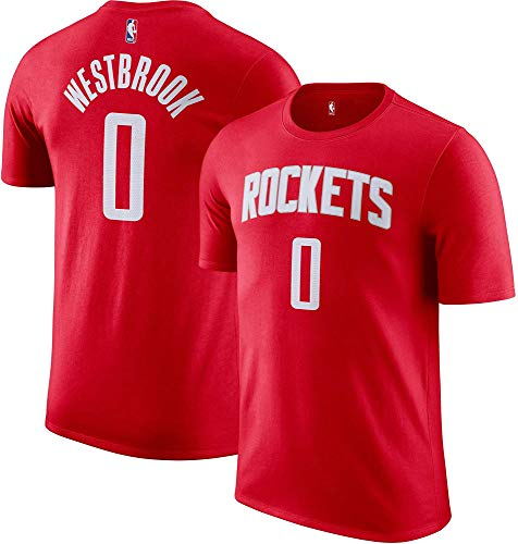 Russell Westbrook Houston Rockets NBA Boys Youth 8-20 Red Name & Number Player T-Shirt (Youth Large 14-16)