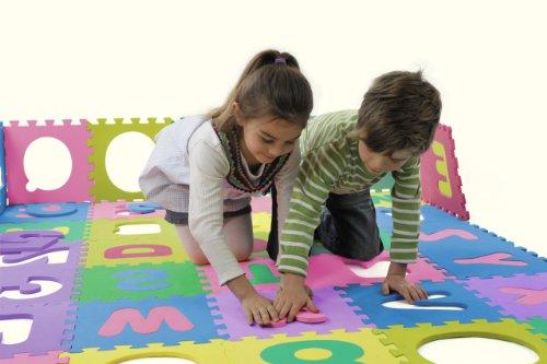 Playshoes EVA Puzzlematten 36 Stück mit 84 Teilen Spielteppich Spielmatten