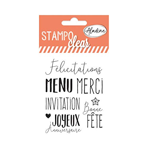 Aladine 04380 Stampo Clear Individuel Mots