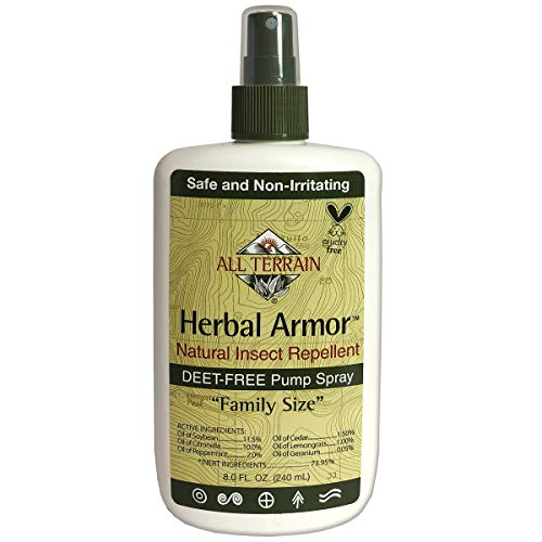 All Terrain Herbal Armor Natural Insect Repellent, DEET-FREE Pump Spray, 8 Ounce, Family-Size