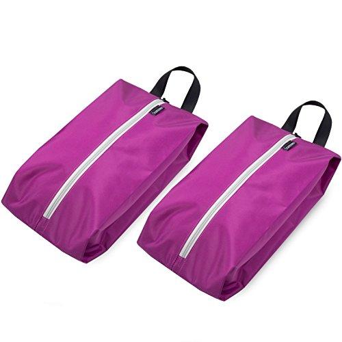 Stansøn ® Leichte Schuhtasche (2er-Set) | Premium XL Schuhbeutel, Schuhsack, Shoe-Bag für Reise & Sport (Pink)