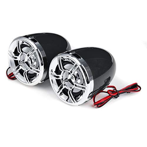 GNY Bocina eléctrica 12V Bluetooth Motorcycle MP3 Altavoz FM USB Carga antirrobo Impermeable Sistema de Audio Multiusos