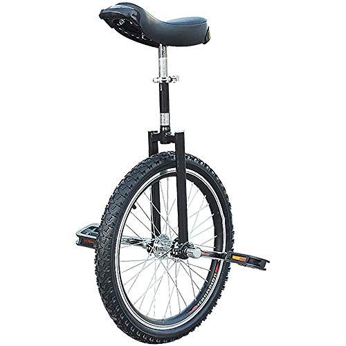 L&WB Unicycle Children/Children/Boys (8/10/12/14/18/18 Años) Unicycle, Adultos/Super-Tall Balance De Ciclismo De 24 Pulgadas Ciclismo, con Neumáticos Antideslizantes,Negro,24inch