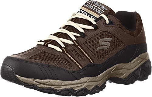 Skechers Sport Men's Afterburn Strike Memory Foam Lace-Up Sneaker,Brown/Black,9 M US