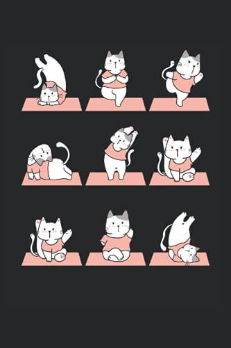 Meditierende Katzen Yoga Notizbuch (liniert) Katze