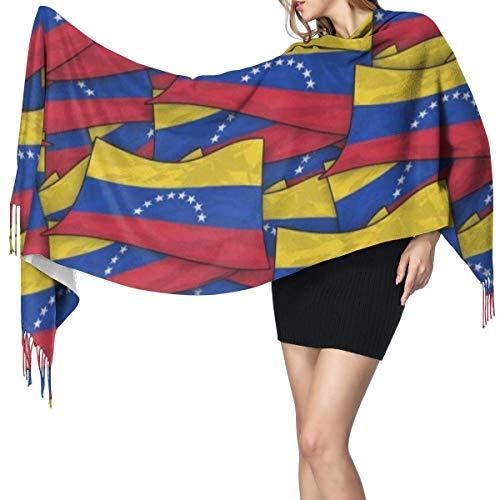 Bufanda actual de la bandera de Venezuela para mujeres, hombres, invierno, viaje grueso, abrigo cálido, chal, bufandas, regalo de Navidad para madre, novia, hermana