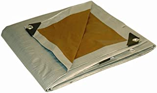 30x40 Multi-Purpose Silver/Brown Heavy Duty DRY TOP Poly Tarp (30'x40')