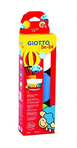 Giotto be-bè- Pack de 3 pastas para jugar, Color verde oliva, azul marino y blanco (Fila Hispania 462503)