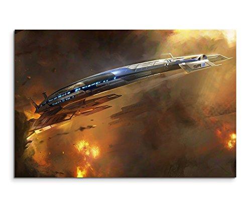 Mass Effect 3 Ship Wandbild 120x80cm XXL Bilder und Kunstdrucke auf Leinwand