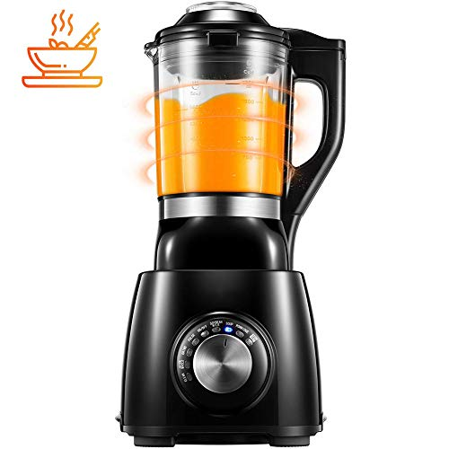 Purchase JXWWNZ Blender, Professional Cooking Blender, 60oz Glass Pitcher with Concealed Heating Element for Almond Soup and Dipping Sauce, 8 Presets and 6 Stainless Steel Blades.