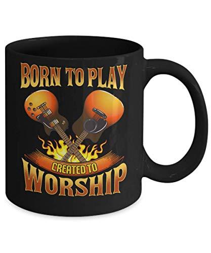 Born to Play Created to Worship - Mug for Church Christian Worship Music Leader - Worship Pastor Mug Gifts - Gift...
