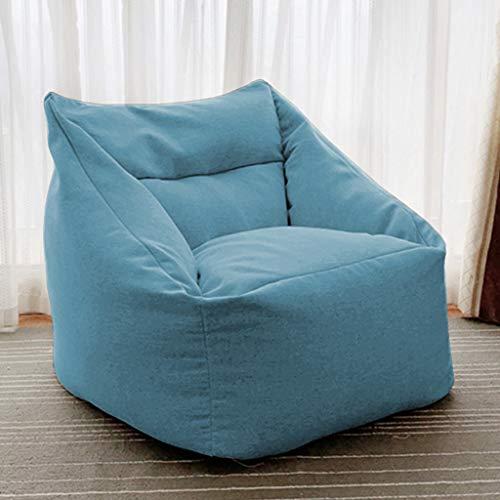 Bulawlly High Back Bean Bag Chair Water Resistant Garten oder Indoor-Gamer Bean Bag Lazy Sofa Couch-Bett, Boden Folding Gaming-Sofa-Stuhl,Blau