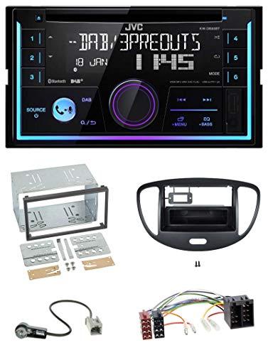 caraudio24 JVC KW-DB93BT Bluetooth DAB CD MP3 2DIN USB Autoradio für Hyundai i10 2008-2013 schwarz