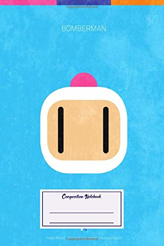 Composition Notebook: Gaming Bomberman Minimal Videogame Minimal Videogame Posters (Composition Notebook, Journal) (6 x 9)