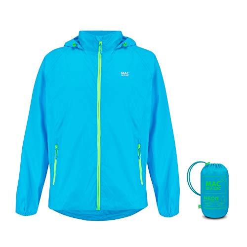Mac in a Sac Origin II - Waterproof Packable Jacket, Chaqueta Impermeable Hombre, Neon Blue, L