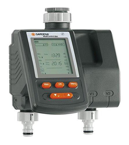 Gardena C 2030 Duo Plus MultiControl Bewässerungssystem, Grau, 23,6x16,8x11 cm