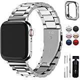 Fullmosa Für Apple Watch Armband 7/SE/6 45mm/44mm/42mm, Rostfreier Edelstahl Ersatzband für...