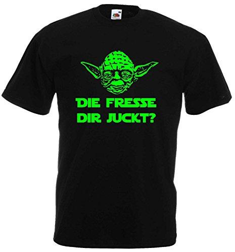 Master Yoda T-Shirt Star Wars Spruch DIE Fresse DIR JUCKT!XL