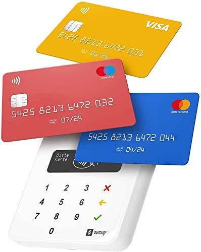 SumUp Air mobiles Kartenterminal zum bargeldlosen Bezahlen mit EC Karte, Kreditkarte Apple & Google Pay und mehr - NFC RFID Geldkartenleser - Praktischer Credit Card Reader - Kontaktlose Kartenzahlung