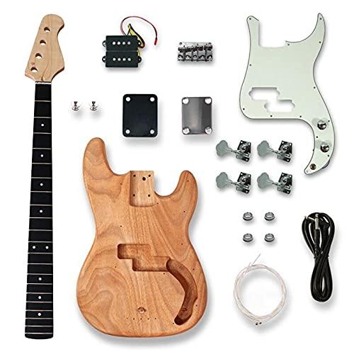 KEPOHK Kit de bajo con todos los accesorios Mástil de bajo de...