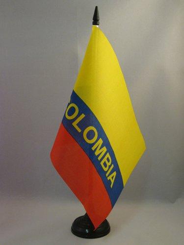 AZ FLAG Drapeau de Table Colombie avec Inscriptions 21x14cm - Petit Drapeaux DE Bureau colombien 14 x 21 cm