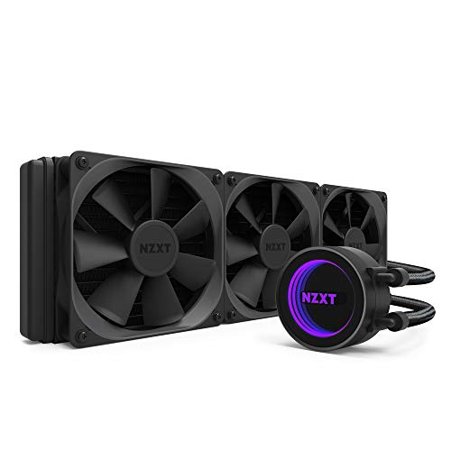 NZXT Kraken X72 360mm - RL-KRX72-01 - AIO RGB CPU Liquid Cooler - CAM-Powered - Infinity Mirror Design - Performance Engineered Pump - Reinforced Extended Tubing - Aer P120mm Radiator Fan (3 Inc.)